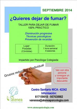 Curso dejar fumar. Córdoba - septiembre 2014
